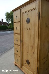 antique pine bread cupboard excellent storage piece, drawers and shelves inside