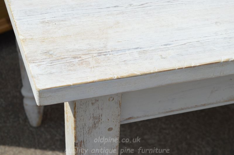 Vintage Farmhouse Painted Table   £595 (Stock Ref: P3924)    77cm(h)x183cm(w)x92cm(d) Email To Enquire About This Table | Contact Us |  Nationwide Delivery ...